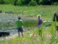 Wędkarstwo nad zalewem Domaša