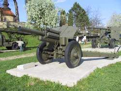 Park with heavy military equipment