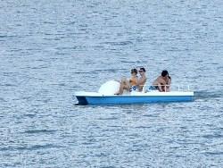 Pływanie rowerem wodnym