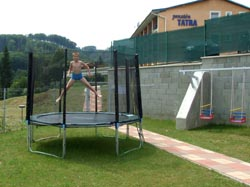 Trampoline in relaxation zone