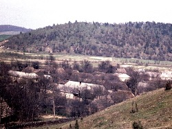 Panorama of former village Valkov